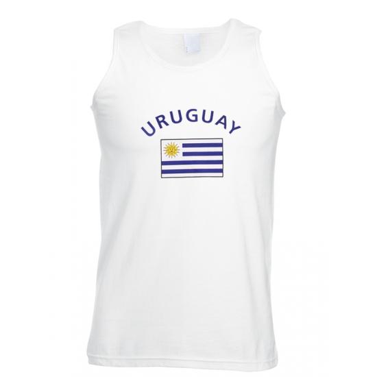 Tanktop met vlag Uruguay print