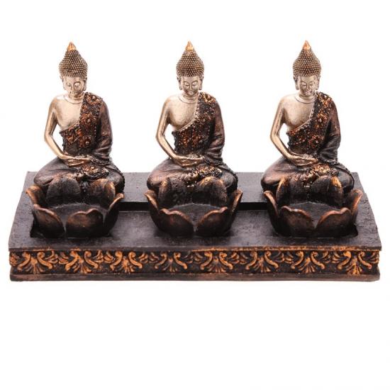Thaise Boeddha 3 theelichthouders