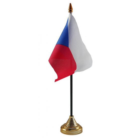 Tsjechische tafelvlag met standaard