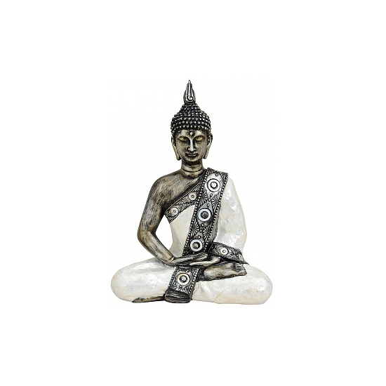 Tuin beeldje Thaise Boeddha 27 cm