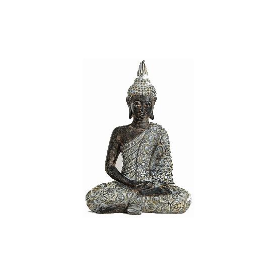 Tuin beeldje Thaise Boeddha 33 cm