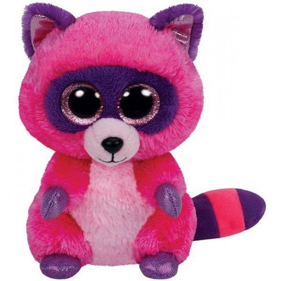 Ty Beanie knuffel roze wasbeer 15 cm (bron: Shirtszone)