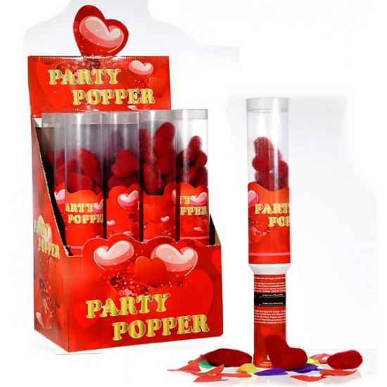 Valentijn party popper hartjes