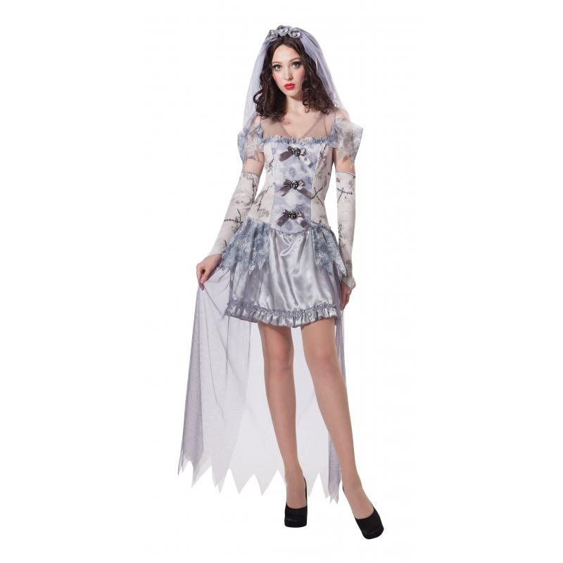 Verkleed geest bruid kostuum voor dames