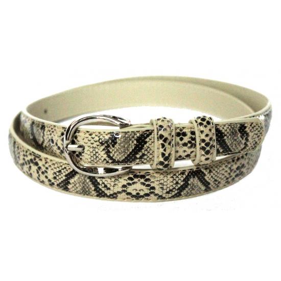 Verkleed riem slangenprint 105 cm (bron: Shirtszone)