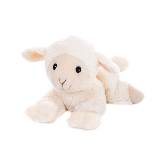 Warme knuffel kruik wit schaap boerderijdier