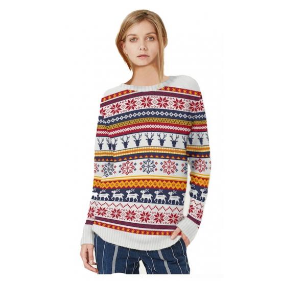 Winter trui ronde hals voor vrouwen