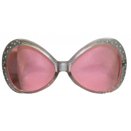 Zilveren brillen met diamantjes