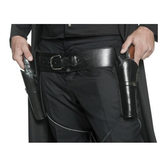 Zwarte riem met pistool houders