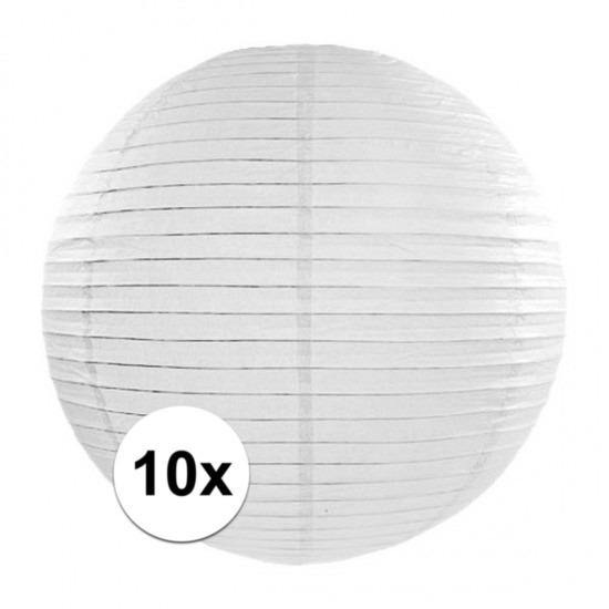 Scherpste aanbieding 6% Korting 10x Lampionnen van 35 cm in het wit