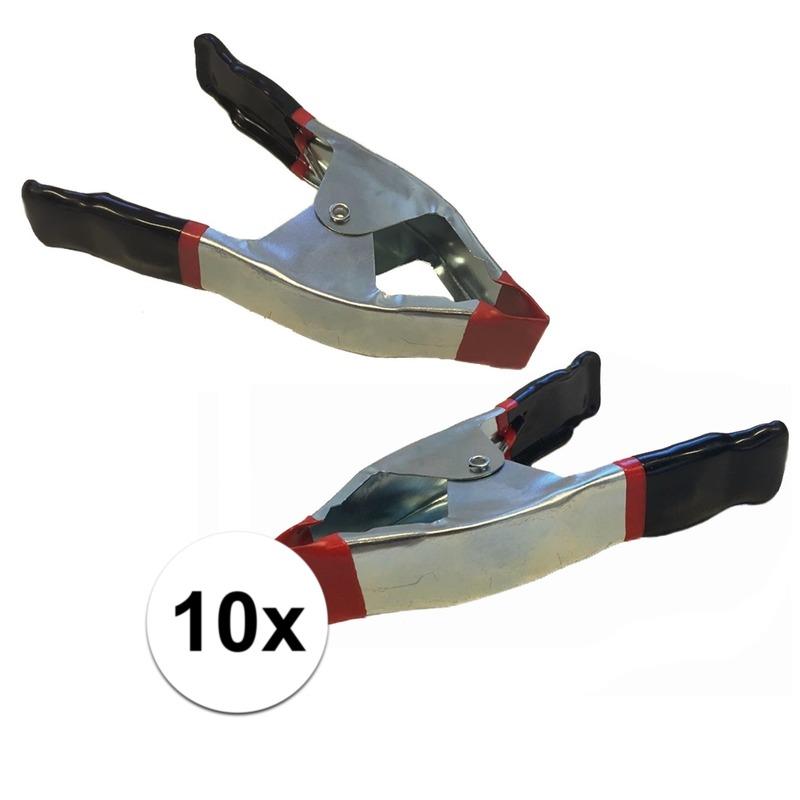 10x lijmklemmen-marktklemmen 15 cm