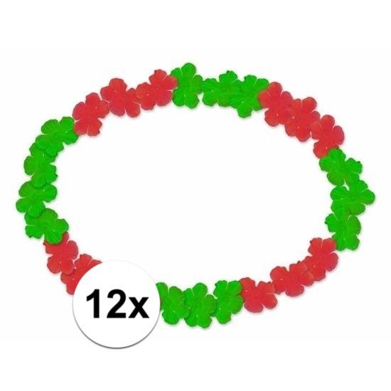 12x Hawaii kransen rood groen Geen voordeligste prijs