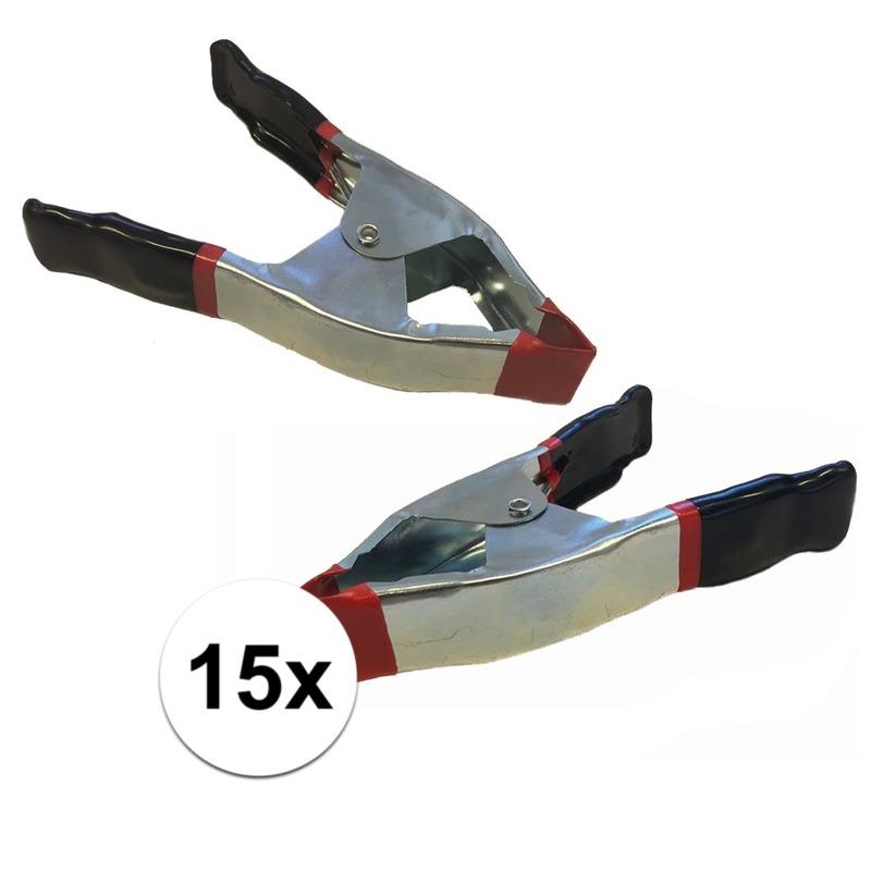 15x lijmklemmen-marktklemmen 15 cm
