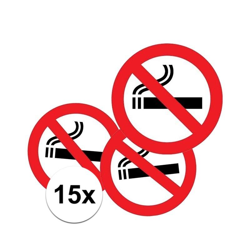 15x Sticker verboden te roken