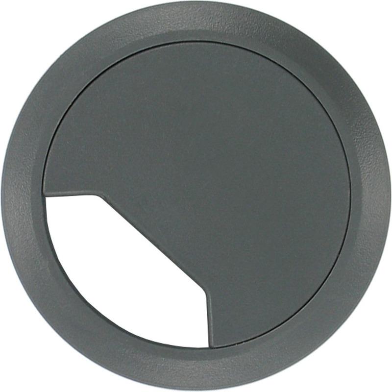 1x Kabeldoorvoer met afdichtplaatje licht grijs 60 mm