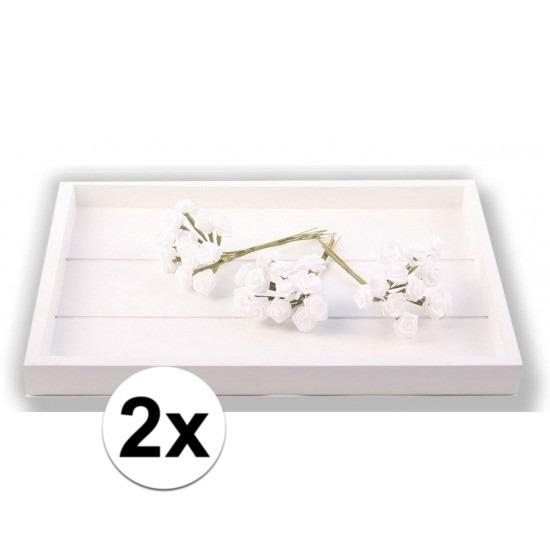 24 Decoratie rozen wit 12 cm