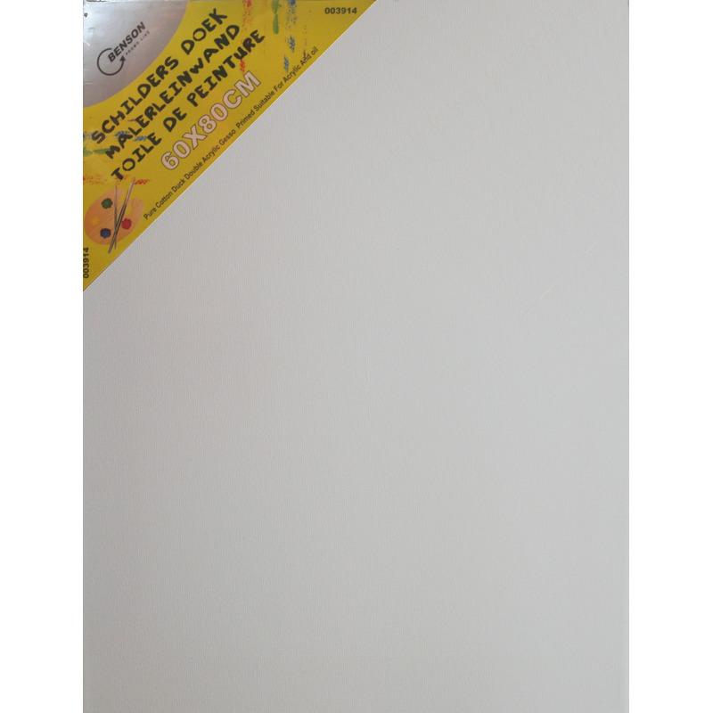 2x Canvas schilders doek 60 x 80 cm zware kwaliteit