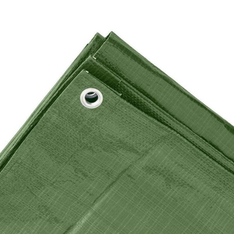 2x Groene afdekzeilen-dekzeilen 2 x 3 meter