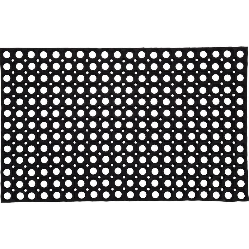 2x Grote rubberen deurmatten-buitenmatten 50 x 80 cm
