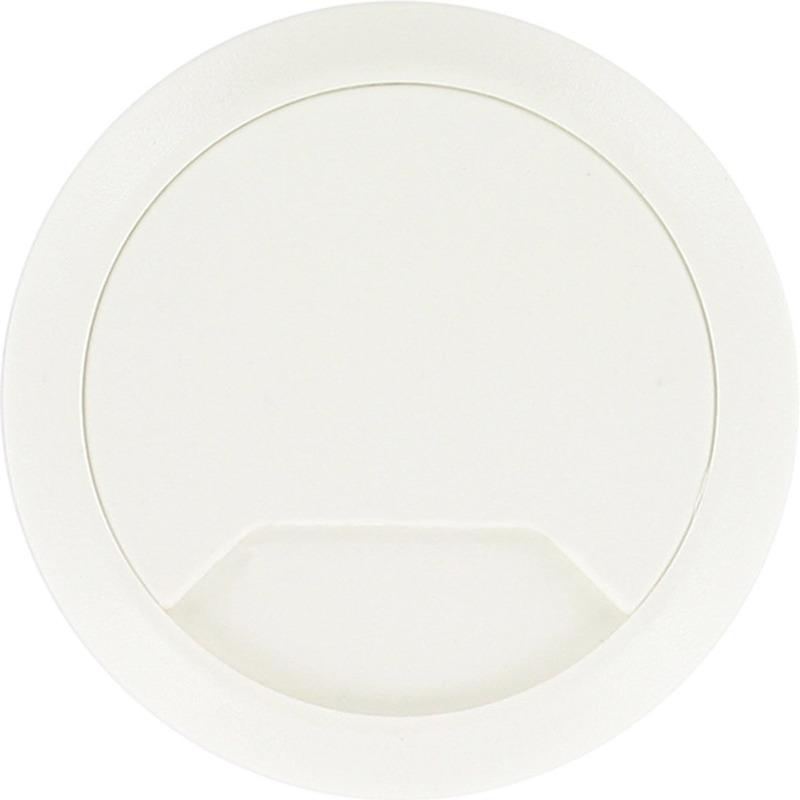 2x Kabeldoorvoer wit 80 mm