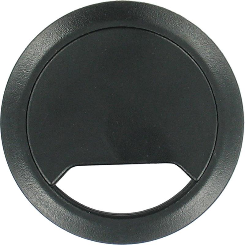 2x Kabeldoorvoer zwart 80 mm