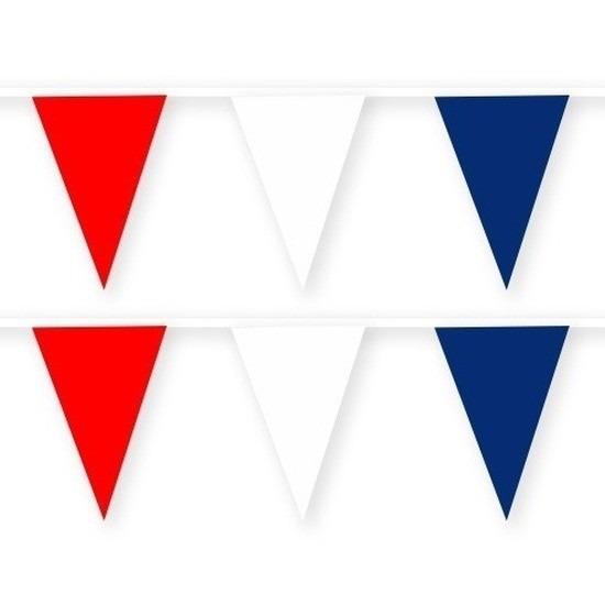 2x Nieuw Zeeland stoffen vlaggenlijnen-slingers 10 meter katoen
