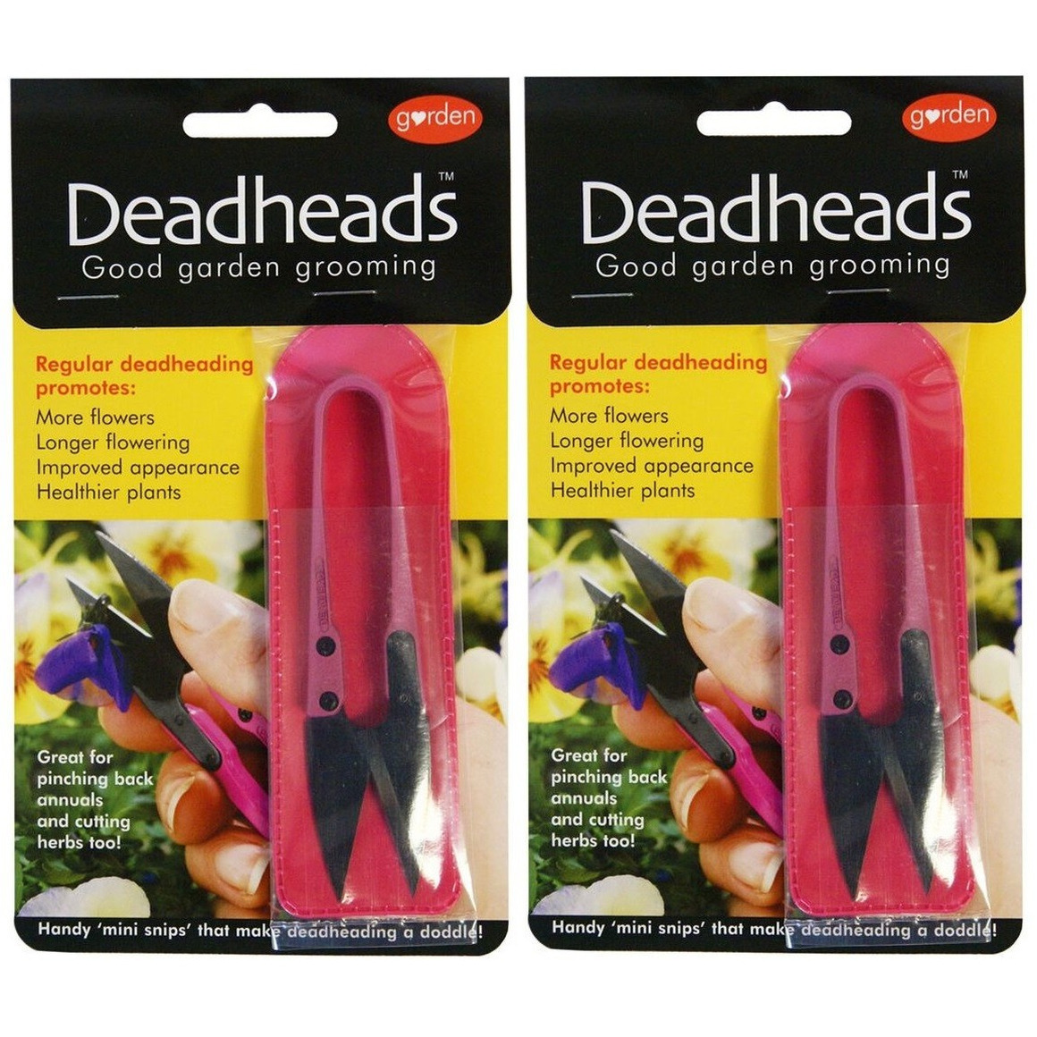 2x Roze schaartjes-snoeischaartjes voor bloemen en planten