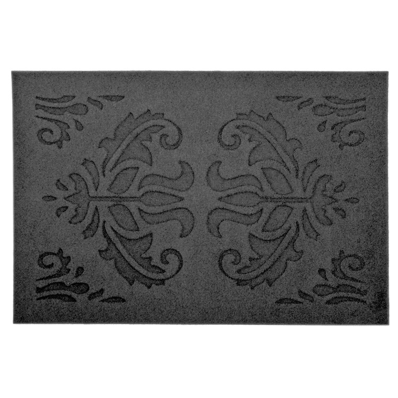 2x Rubberen deurmatten relief klassiek 60 x 40 cm