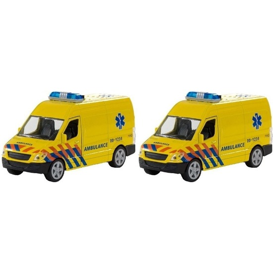 2x Schaalmodel ambulance Nederland