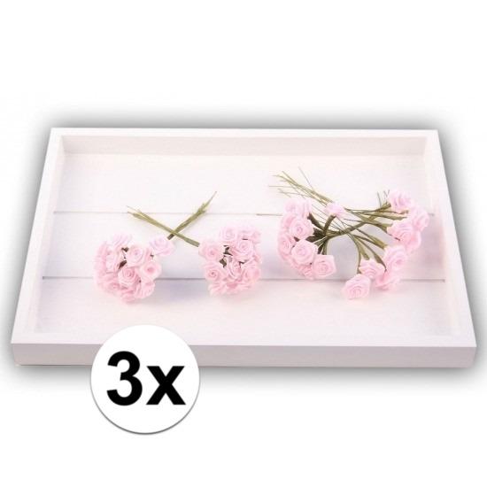 36 Decoratie rozen roze 12 cm