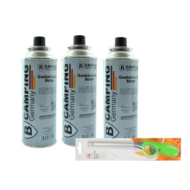 3x Butaan gasfles gasvulling 227 gram inclusief gasaansteker