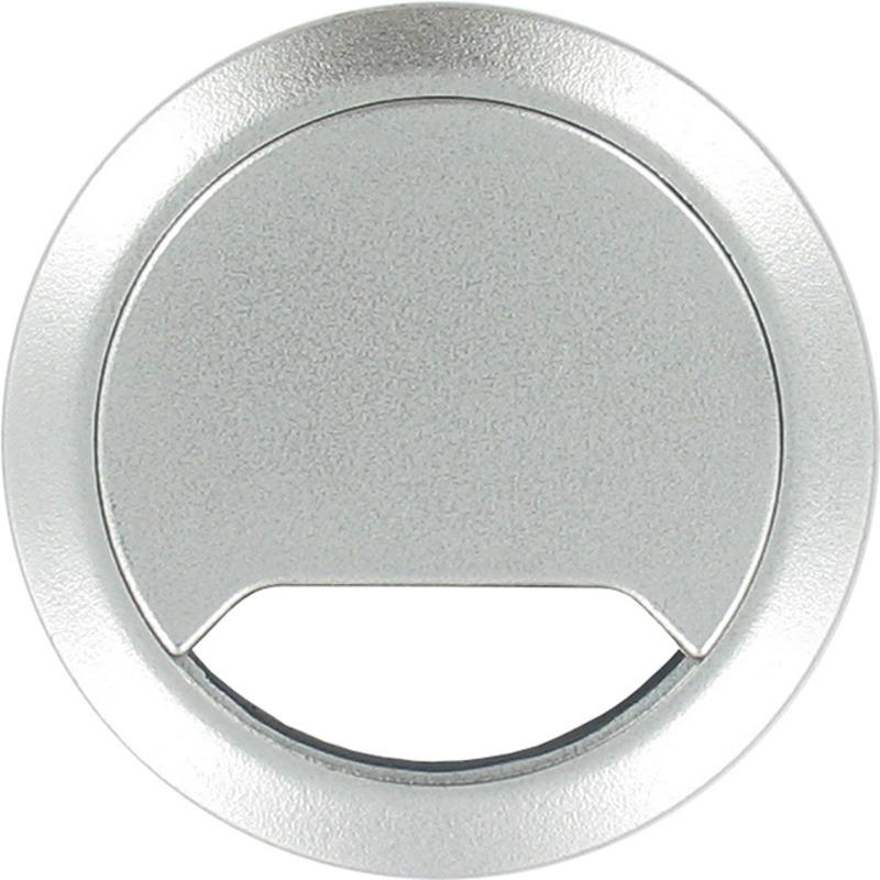 3x Kabeldoorvoer aluminium zilver 80 mm