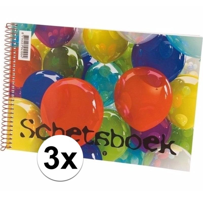3x Kinder teken & schets boeken A4