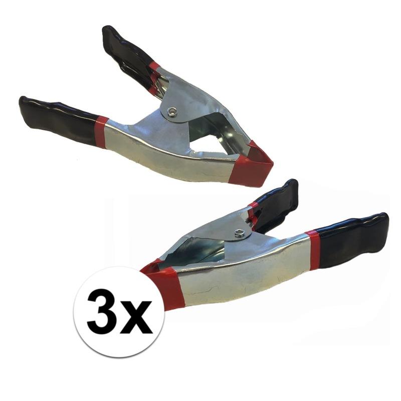 3x lijmklemmen-marktklemmen 15 cm