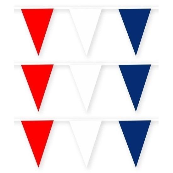 3x Nieuw Zeeland stoffen vlaggenlijnen-slingers 10 meter katoen