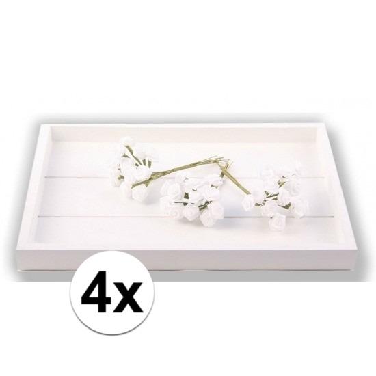 48 Decoratie rozen wit 12 cm