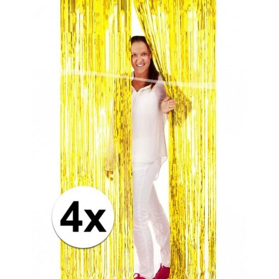 4x folie gordijn in het goud Geen Kleuren versiering