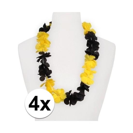 4x Hawaii slinger geel zwart Geen te koop