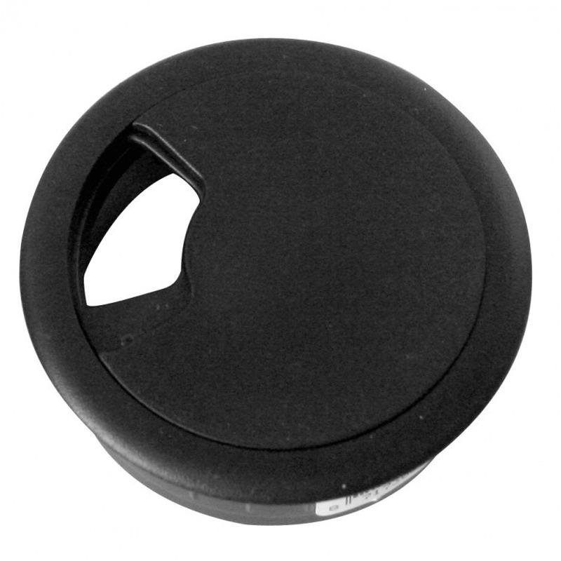 4x Kabeldoorvoer zwart 60 mm