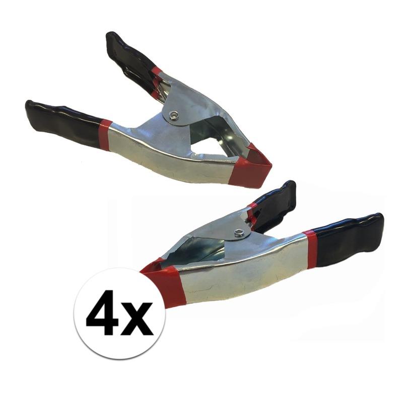 4x lijmklemmen-marktklemmen 15 cm