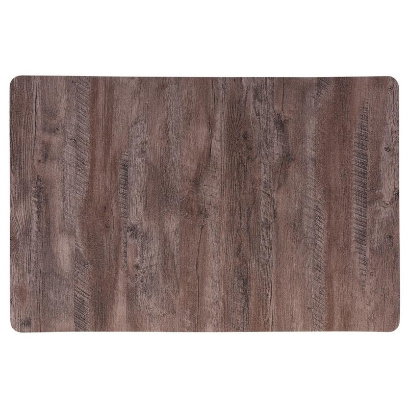 4x Placemat bruin hout print 44 cm