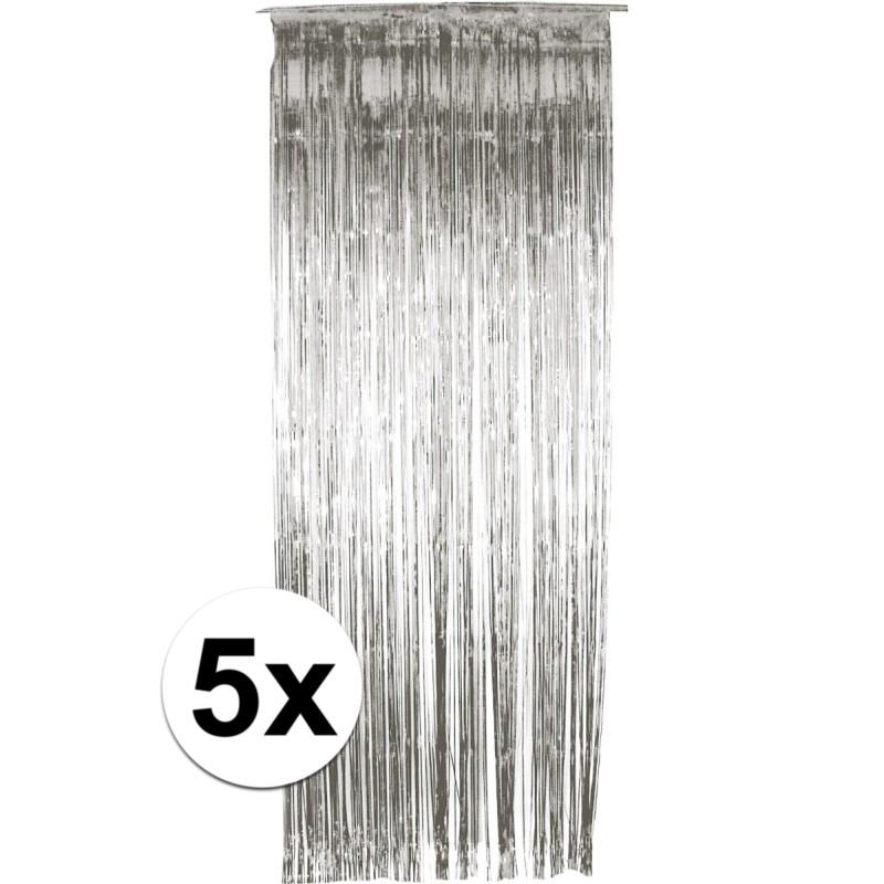 €1000000 Aanbieding Geen 5x folie gordijn in het zilver