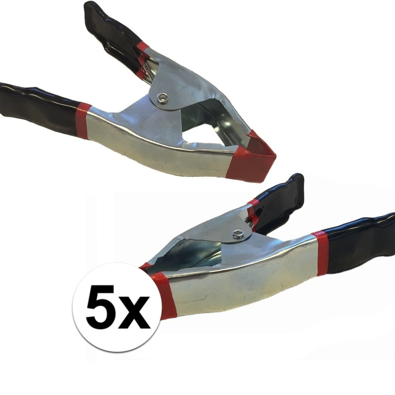 5x lijmklemmen-marktklemmen 15 cm
