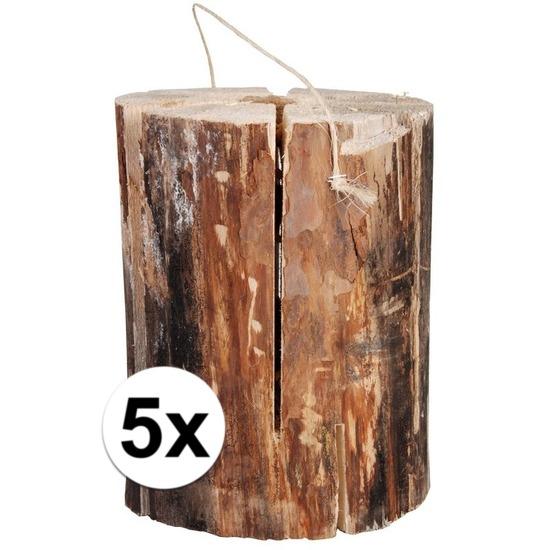 Tuin artikelen 5x zweedse fakkel 20 x 10 cm