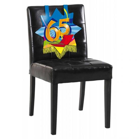 65e verjaardag stoel decoratie
