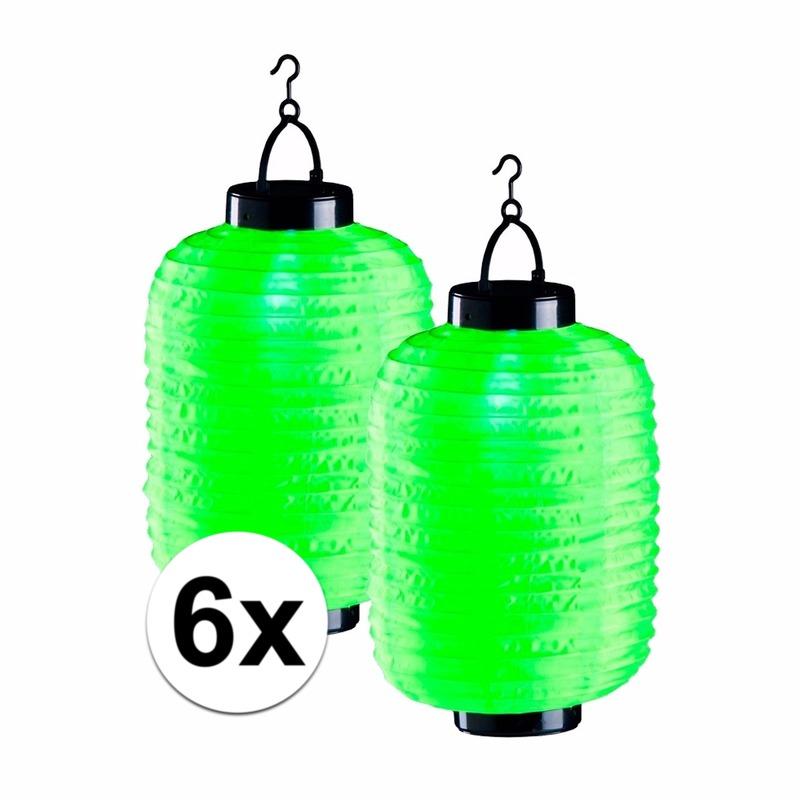 €900000 Korting Geen 6x groene solar lampionnen 35 cm