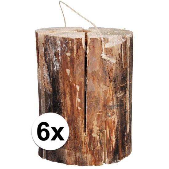 Geen 6x zweedse fakkel 20 x 10 cm Tuin artikelen