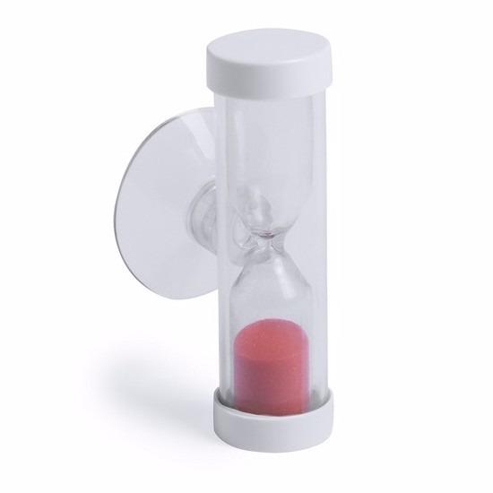 Badkamer-tandenpoets zandloper 2 minuten rood
