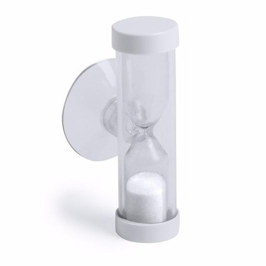 Badkamer-tandenpoets zandloper 2 minuten wit