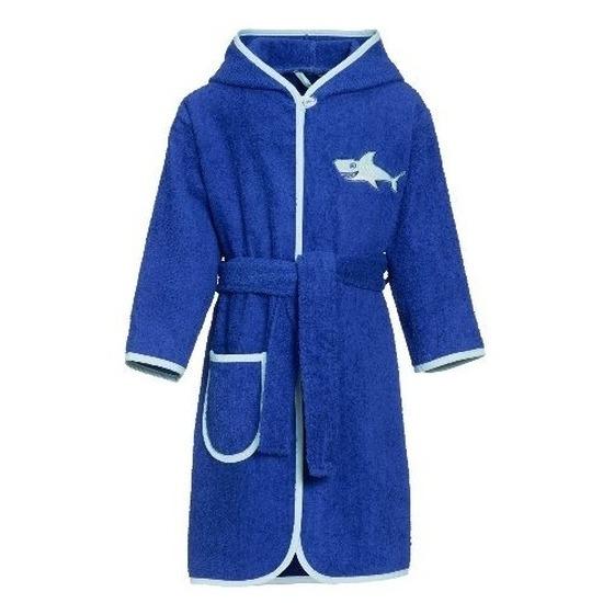 Blauwe badjas-ochtendjas haai borduursel voor kinderen